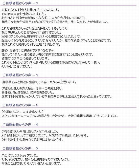 あい探偵事務所口コミ評判